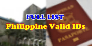 Ids Secondary Of Valid List Full Primary Philippine Id