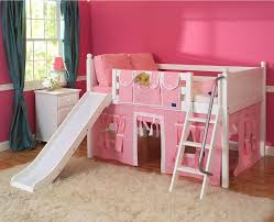 bunk bed with slide for girls. Image Of: Pink Girls Twin Loft Bed With Slide Bunk For I