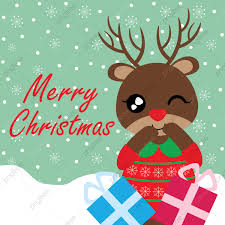 Designs For Christmas Cards Free Cute Reindeer Girl With Xmas Gift Boxes Cartoon Illustration