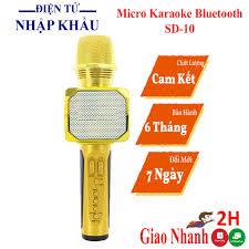 Micro không dây karaoke bluetooth JVJ SD-10, mic kèm loa mini không dây,  bắt giong tốt nhỏ gọn tốt giá rẻ