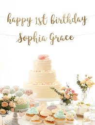 happy birthday customized banners happy 1st birthday banner custom banner first birthday banner birthday decoration gold happy birthday banner girl personalized banner