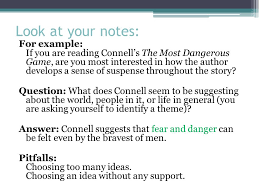 the literary analysis essay using the most dangerous game by look at your notes for example if you are reading connell s the most dangerous