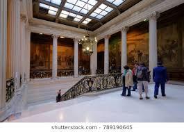 file la sorbonne hall ceiling. PARIS, FRANCE \u2013 SEPTEMBER 14, 2013: People Visiting Sorbonne University During European Heritage File La Hall Ceiling