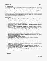Analyst Resume Sample Best Free Collection It Business Exam Peppapp