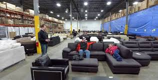 Furniture business thrives with shoppers in the warehouse