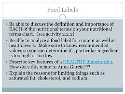 2 2 2 Nutritional Terms Chart Answer Key The Chemistry Of Food Pltw Pbs Ppt Video Online Download