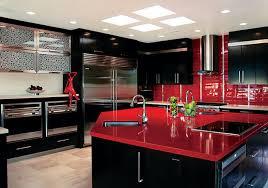 Charming Decoration Cuisine Rouge Et Noir Id E De Mod Le