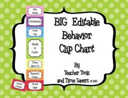 Clip Chart Behavior Management System Behavior Clip Chart Classroom Management Bigger Size Editable Polka Dots