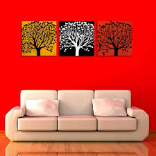 3 piece canvas prints art modern three colors tree canvas painting for living room office decoration