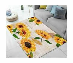 area rugs sunflower large floor mat for living dining dorm playing room bedro