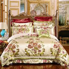4/6/9Pcs Oriental Jacquard Luxury Wedding Royal Bedding Sets King ... & 4/6/9Pcs Oriental Jacquard Luxury Wedding Royal Bedding Sets King/Queen Size Adamdwight.com