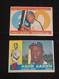 1960 Topps Hank Aaron Baseball Cards ...