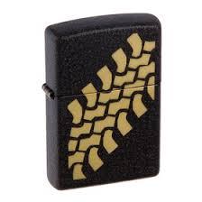 <b>Зажигалка ZIPPO</b> 236 <b>Tire</b> Tracks с покрытием Black Crackle ...