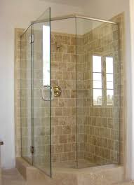 Vintage Glass Corner Shower Enclosures With Ceramics Tile Wall: 5 Design  Types of Corner Shower