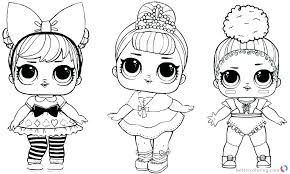 Coloring Pages Unicorn Coloring Pages Lol Surprise Punk Doll With