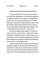 dreams in cold blood essay in the novel in cold blood the  page 1 zoom in