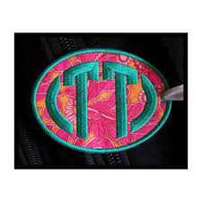 In The Hoop Luggage Tag Designs In The Hoop Oval Luggage Tag