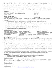 Electrical Engineering Sample Resumes 10 Electrical Engineer Resume Objective Resume Samples