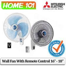mitsubishi wall fan with remote control 16 inch 18 inch w16r w18r
