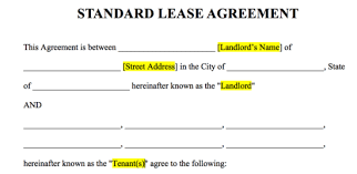 Free Rental Lease Agreement Templates Residential Commercial