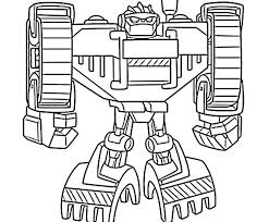 rescue bots dinobots coloring pages bot transformer in heatwave page