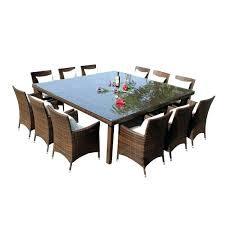 13 piece dining set piece outdoor dining setting the wicker man 1 13 pc dining set