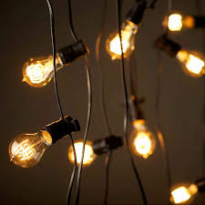edison outdoor string lighting new vintage edison party lighting string lights 240v 20m with 20 bulbs
