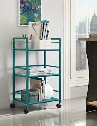 office rolling cart. amazonsmile altra marshall 3 shelf metal rolling utility cart teal office products