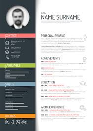 Resume Template With Photo Free Download Best Of Unique Resume Templates Free Creative Resume Template Design Vectors