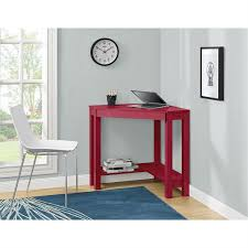 workspace furniture office interior corner office desk. Red Corner Writing Laptop Desk With Drawer - Great For Small Spaces Workspace Furniture Office Interior