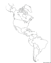 Blank Map South Physical Outline Geology With X America