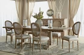 express furniture hudson large dining bench stone  hudsonextensiondiningtable stonewash setting
