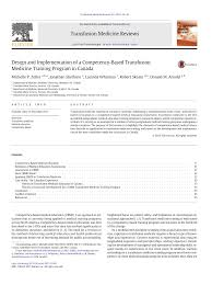 Designing And Implementing Training Programs Pdf Design And Implementation Of A Competency Based