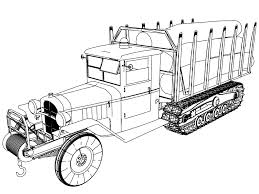 Camion chenille tree carrying old vehicle truck coloring p on old ford coloring pages printable truck