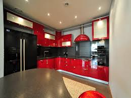 Amazing Red And Black Kitchen Cabinets Idea