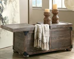 rustic coffee table trunk style with storage jpg