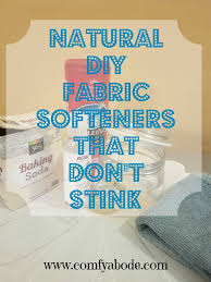 diy homemade fabric softeners that don t stink