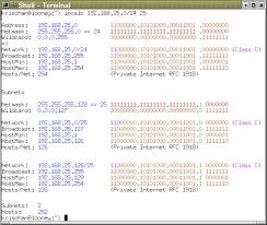 Ip Address And Subnet Mask Chart Ip Calculator Ip Subnetting