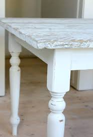 white farmhouse table washed reclaimed wood how to wash a with metal chairs