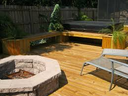 Wood Deck Fire Pits Design Marvelous Fire Pit Built Into Wood Deck