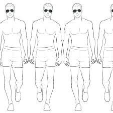 Male Figure Drawing Template Side View In Movement Templates For