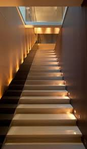 home lighting designs. interior wooden stairs with small lights ultra modern white home glazed design lighting designs