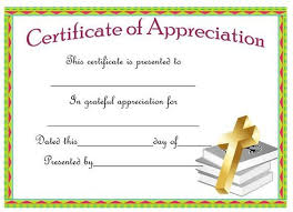 Certificate Of Appreciation For A Pastor Pastor