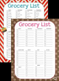 Grocery List Form Grocery List Blank Form And Template With Polka Dot Background vlashed 1