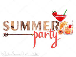 summer party clipart. Wonderful Summer Summer Party  Vector Clipart Aquarelle U2014 Image Vectorielle On C