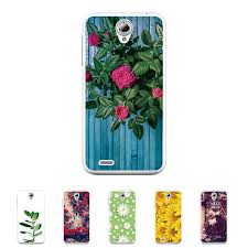 for lenovo a859 5 0 inch solf tpu silicone flower rose case mobile phone cover bag cellphone