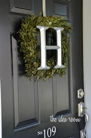 front door wreathDIY Wreath