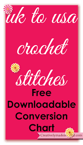 Uk To Us Crochet Stitches Conversion Chart Creatively Made