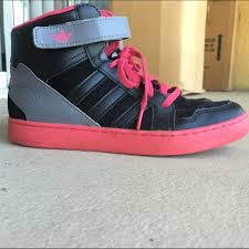 adidas shoes pink and grey. adidas shoes - pink,black,and grey high tops pink and l