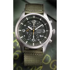 seiko chronograph field watch